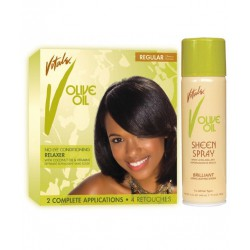2app Olive Oil relaxer Regular + Sheen Spray